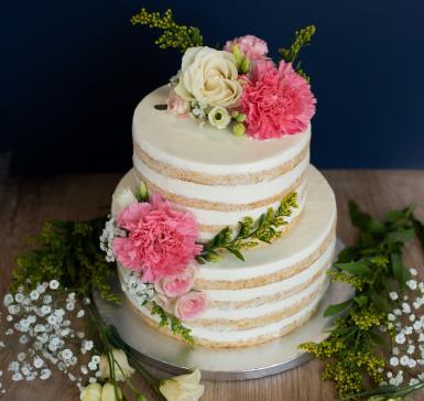 Vanilla with flower decoration