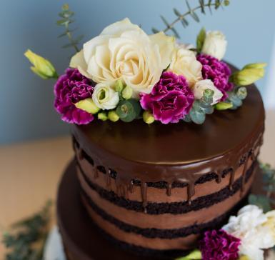 Chocoland with fresh flowers
