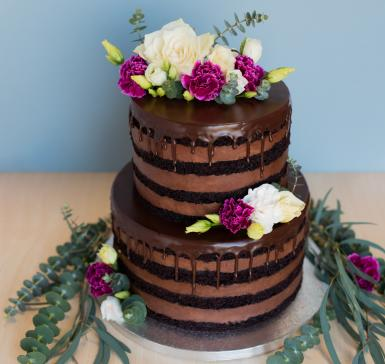 Chocoland with fresh flowers