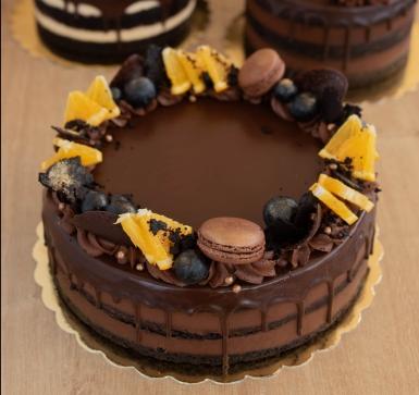 Торта Шоколандия с малини