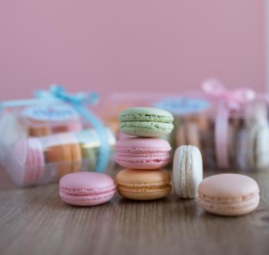 French macaroons box