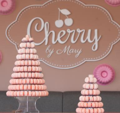 French macaroons tower